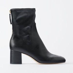 Zara zippered heeled ankle booties